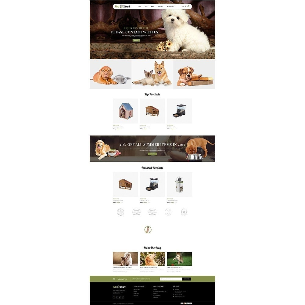 theme - Animais - Pets Heart Store - 2