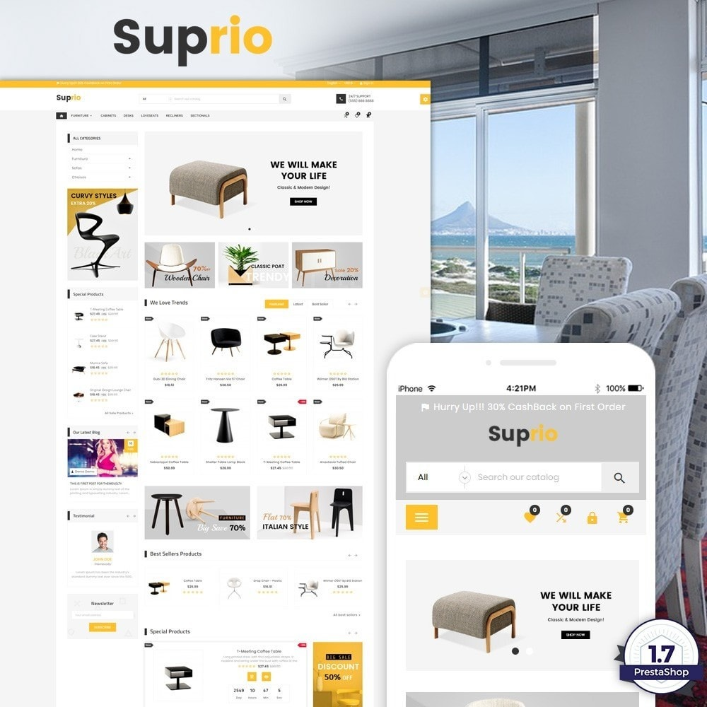 Suprio – Furniture and Decor Super Store v3