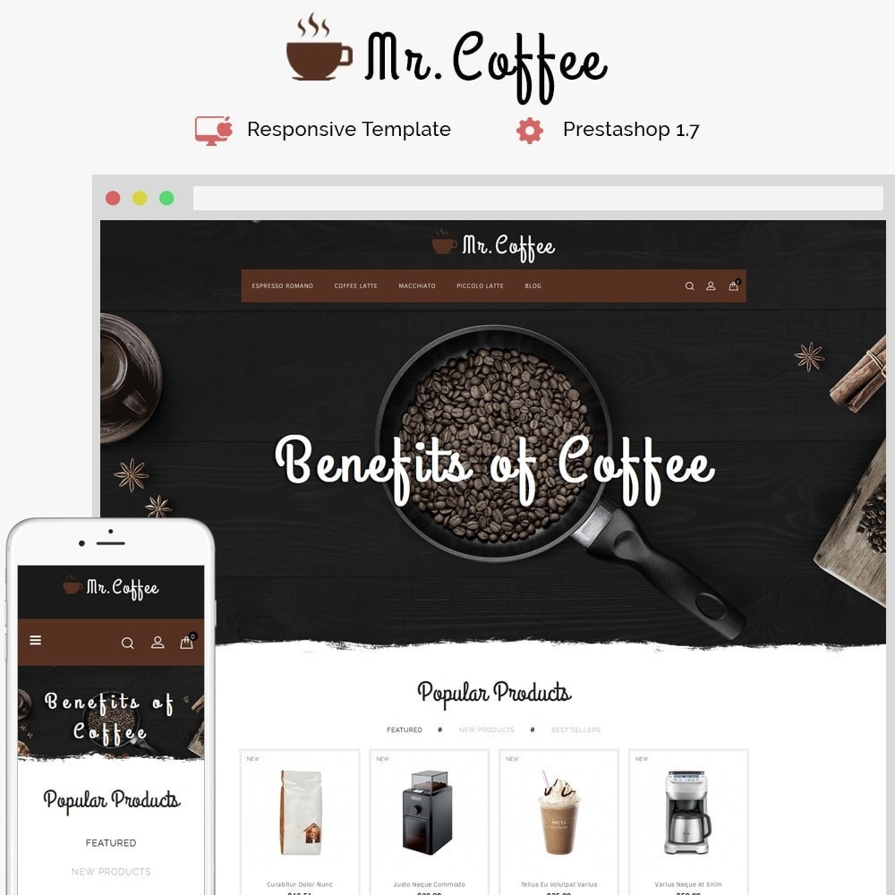 theme - Drink & Tobacco - MrCoffee Store - 1
