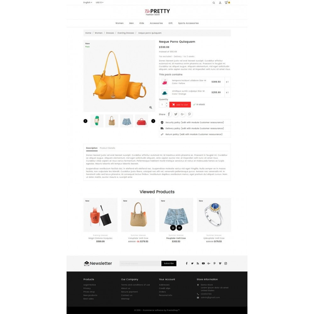 theme - Mode & Chaussures - BePretty Fashion Store - 5