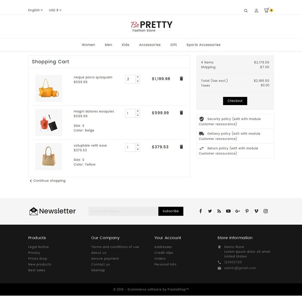 theme - Mode & Chaussures - BePretty Fashion Store - 7