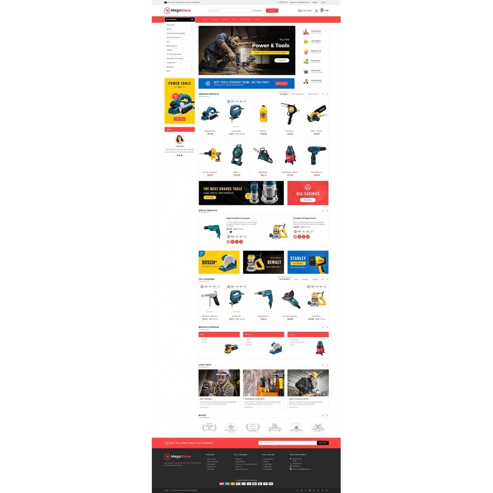 theme - Elettronica & High Tech - Mega Power Tools Store - 3