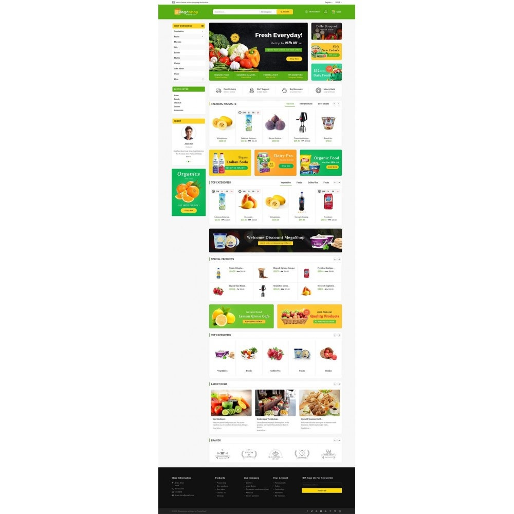 theme - Alimentation & Restauration - Mega Grocery Shop - 3