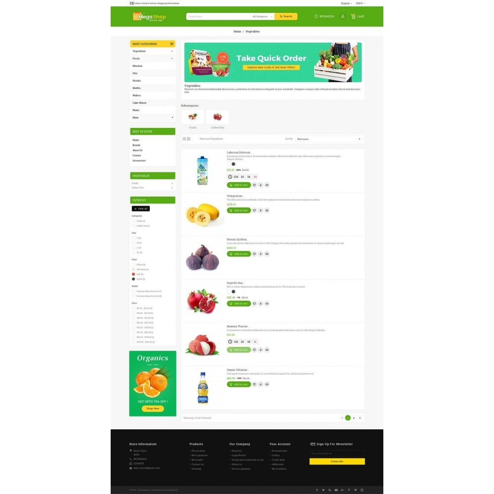 theme - Alimentation & Restauration - Mega Grocery Shop - 5