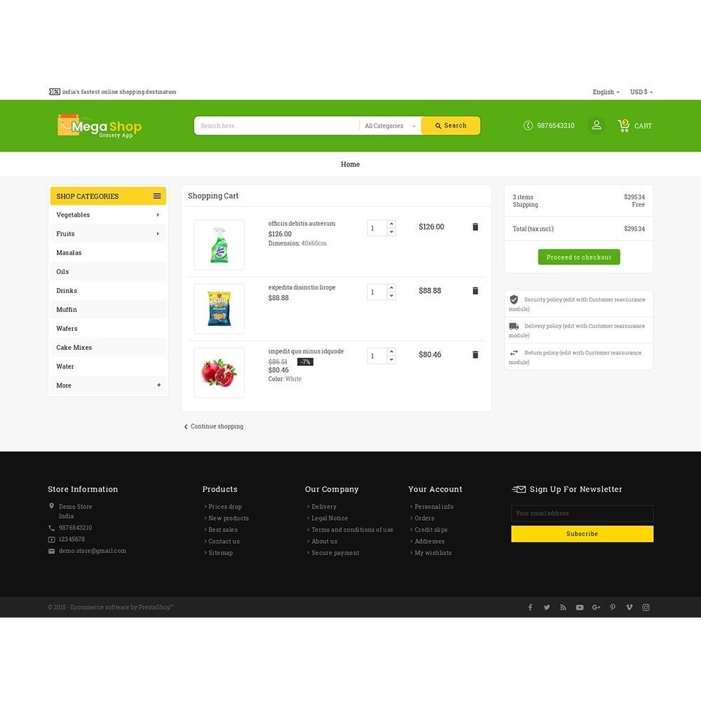 theme - Alimentation & Restauration - Mega Grocery Shop - 7
