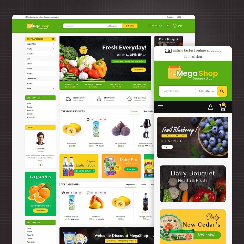 theme - Lebensmittel & Restaurants - Mega Grocery Shop - 2