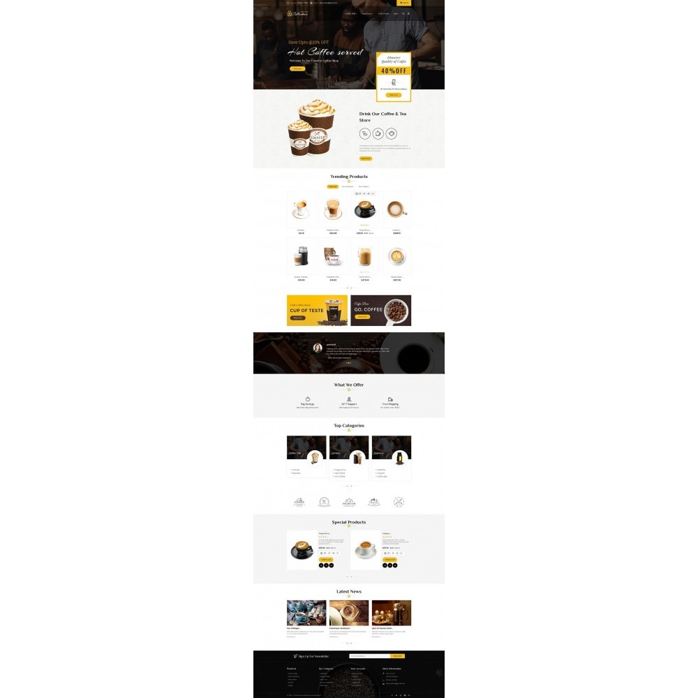 theme - Food & Restaurant - Coffee Bar - 2
