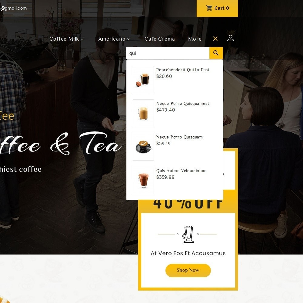 theme - Food & Restaurant - Coffee Bar - 10