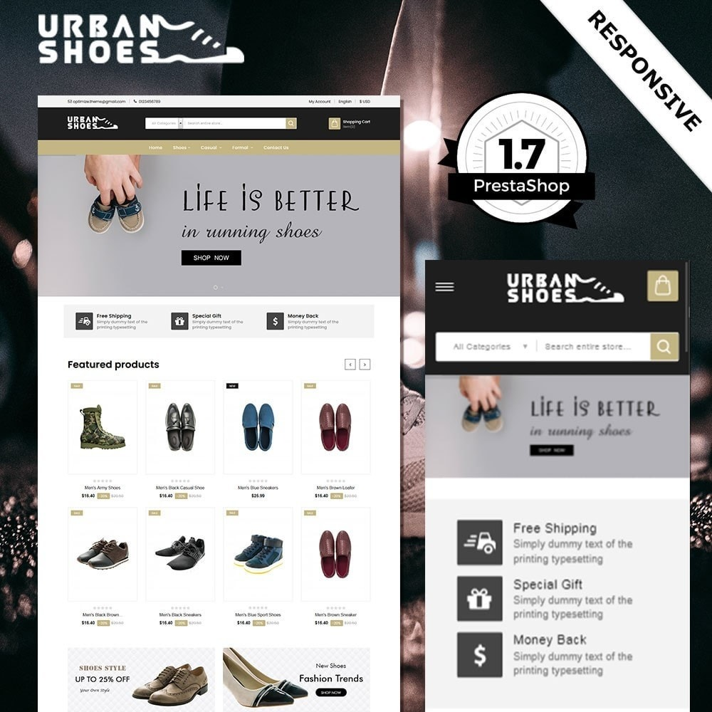 Tienda de zapatos urbanos
