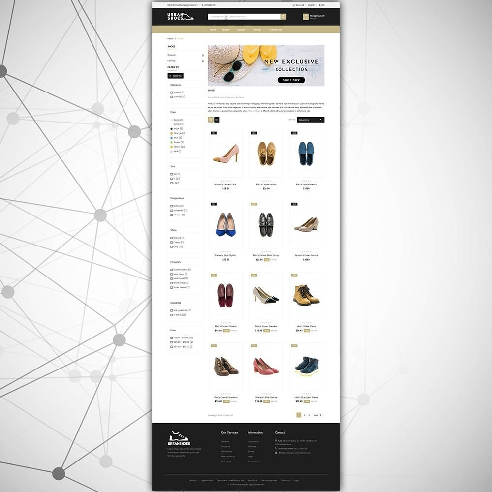 theme - Moda & Calzature - Negozio di scarpe urbane - 4