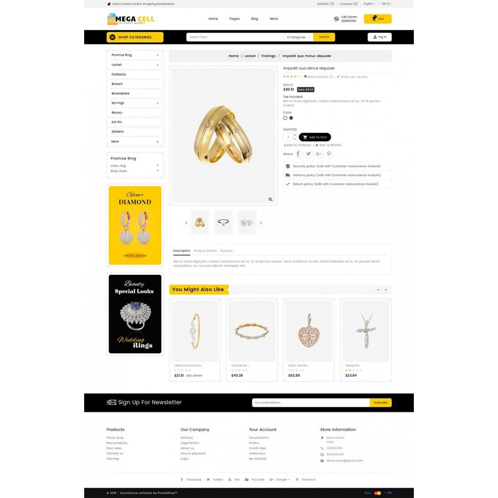 theme - Bijoux & Accessoires - Mega Cell Jewelry Imitation - 6