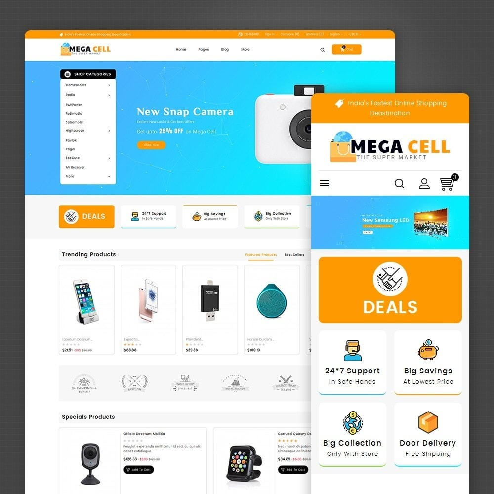 theme - Elettronica & High Tech - Mega Cell Electronics - 2