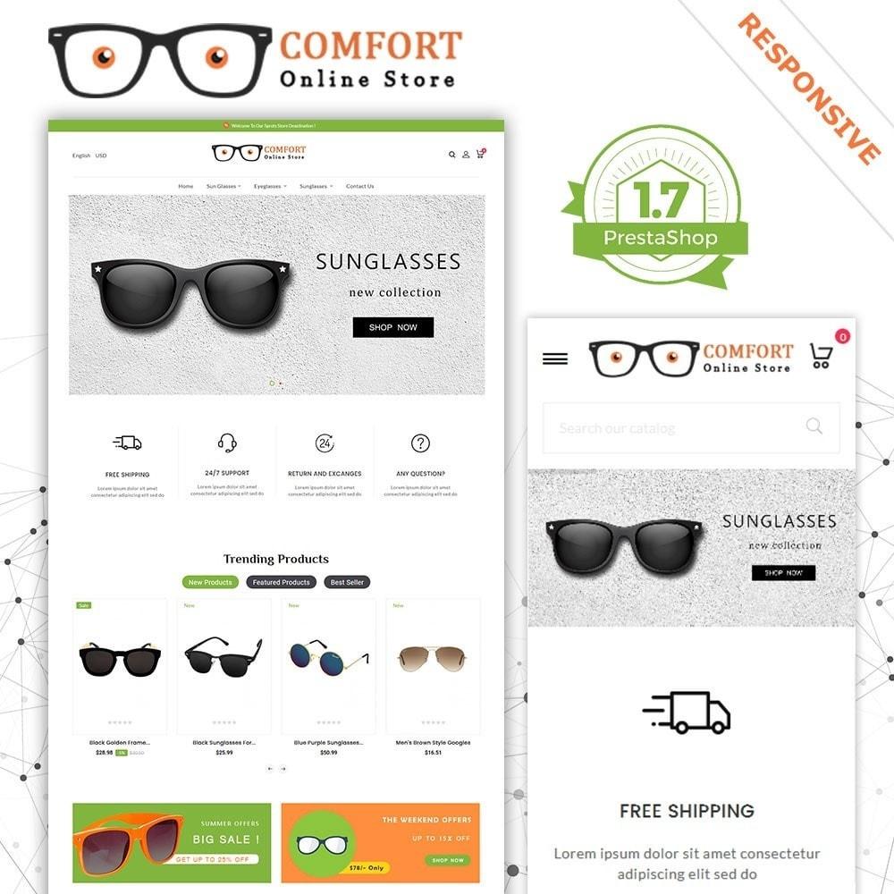 Loja de óculos de sol Comfort