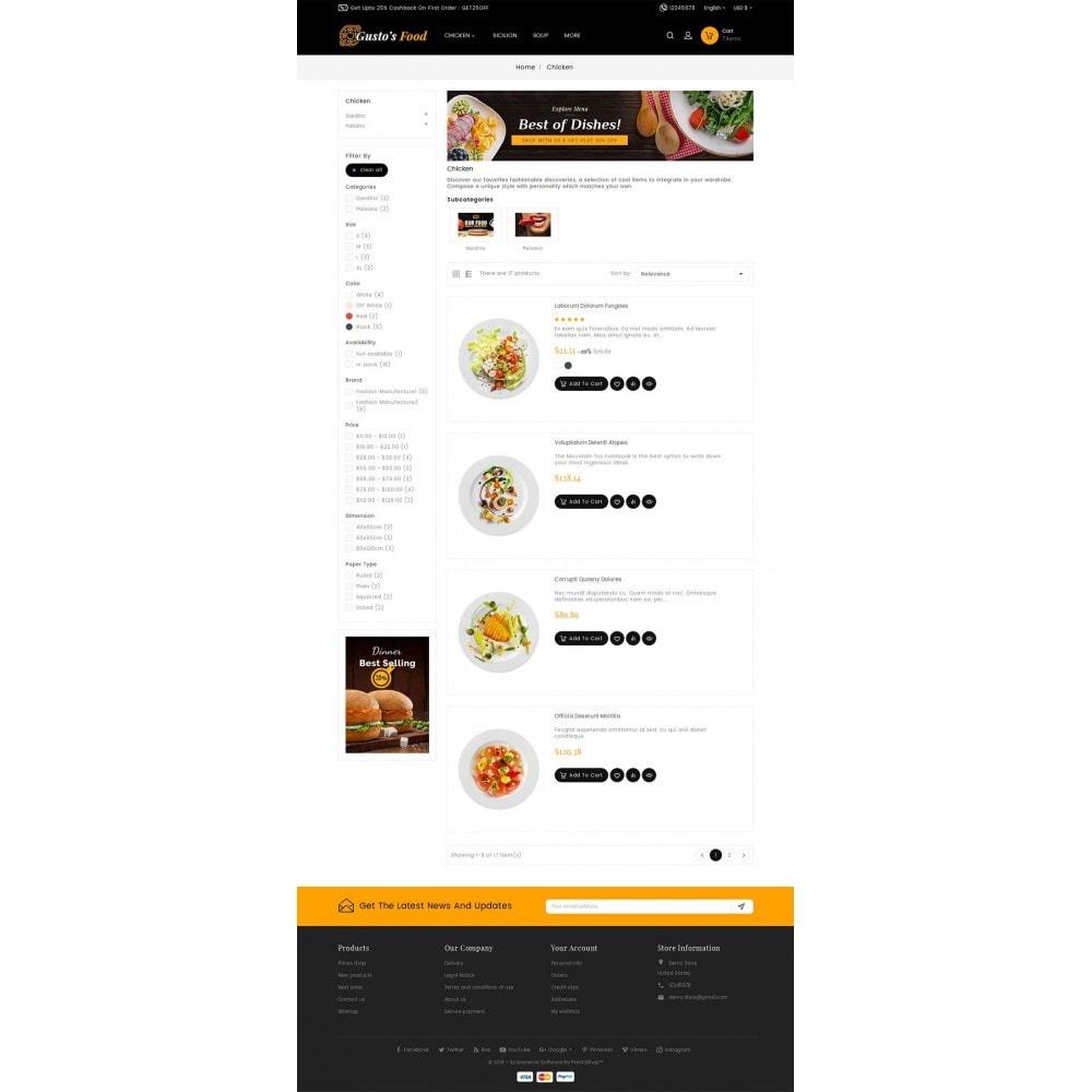 Gusto Restaurant Food