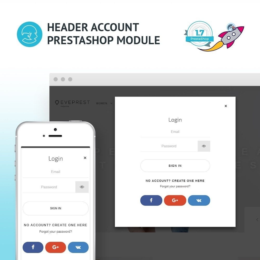 module - Social Login & Connect - JX Header Account 1.7 - 1