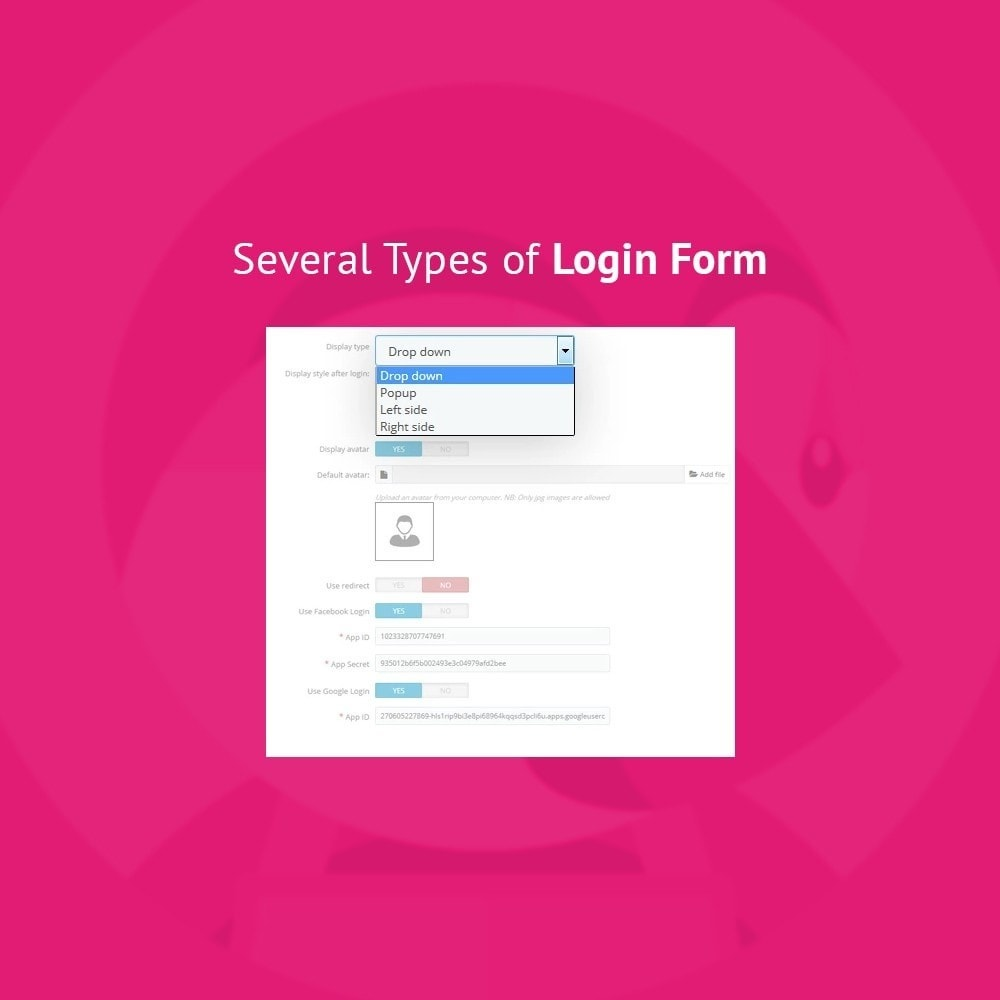 module - Social Login & Connect - JX Header Account 1.7 - 2