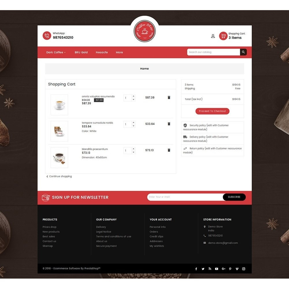 theme - Alimentation & Restauration - Coffee Cafe Shop - 7
