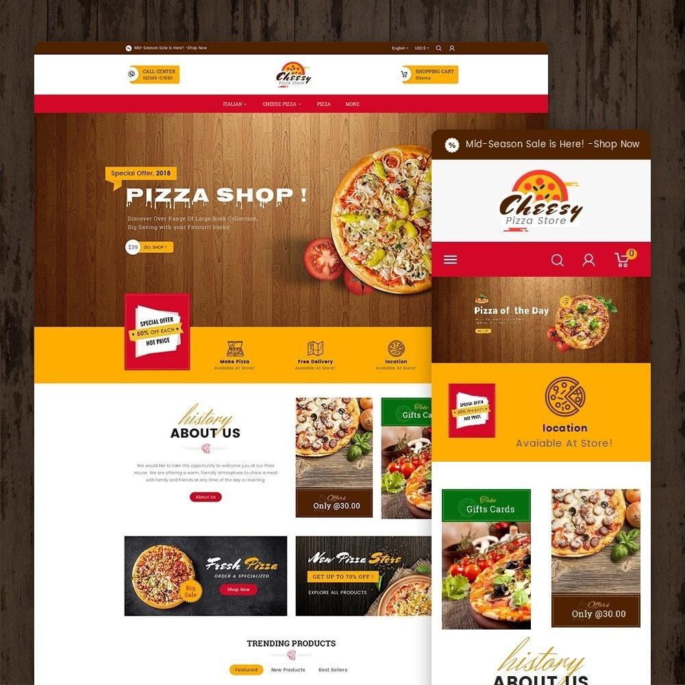 theme - Alimentation & Restauration - Cheesy Pizza - Fast Food - 2