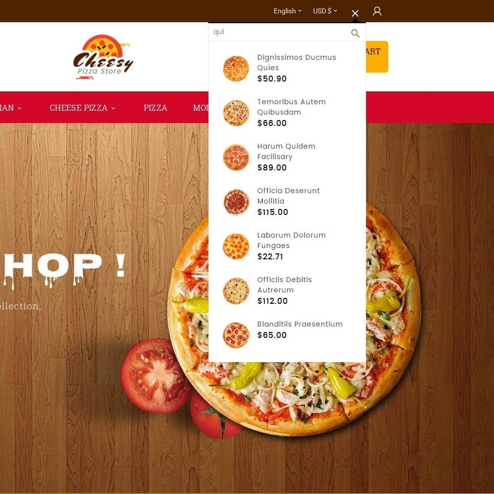 theme - Alimentation & Restauration - Cheesy Pizza - Fast Food - 10