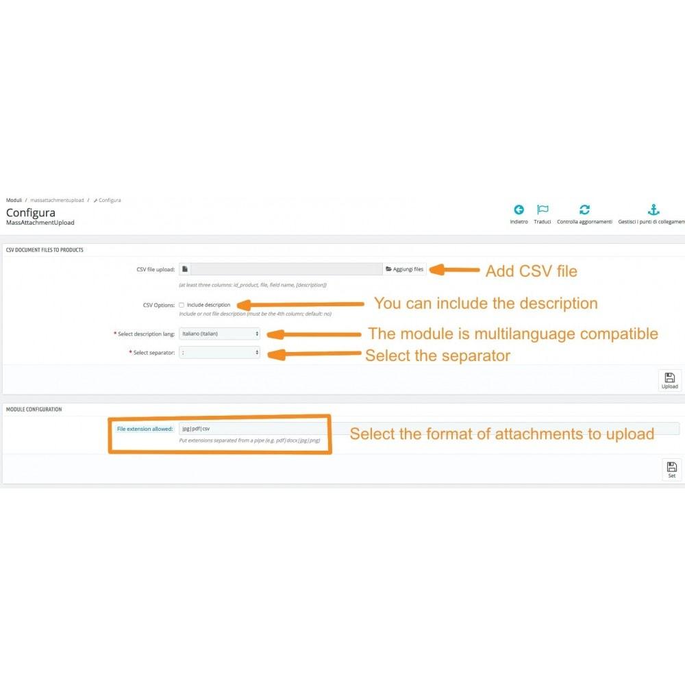 module - Data Import & Export - Upload massivo di allegati - 5