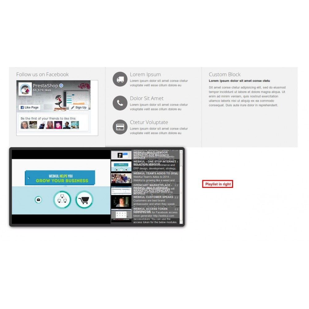 module - Widgets de Redes Sociais - Youtube Playlist - 11