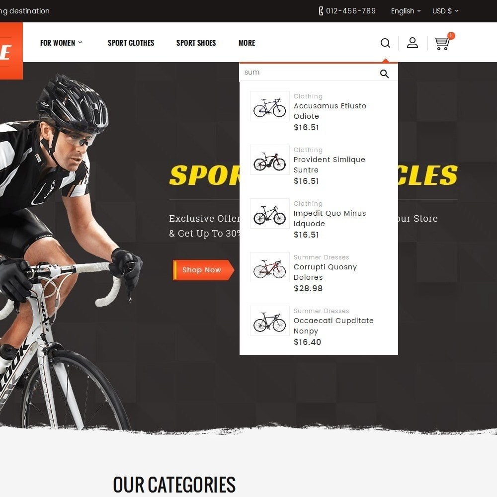 theme - Sport, Loisirs & Voyage - Sports Bicycle - 10