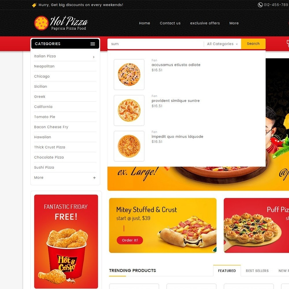 theme - Lebensmittel & Restaurants - Paprika Pizza - Fast Food - 10