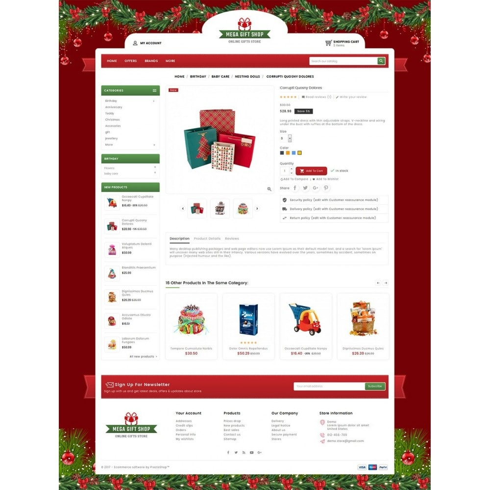 theme - Geschenke, Blumen & Feiern - Mega Gift Shop - 6