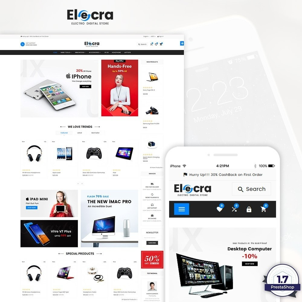 theme - Elektronika & High Tech - Elecra - Electronic Super Store - 1