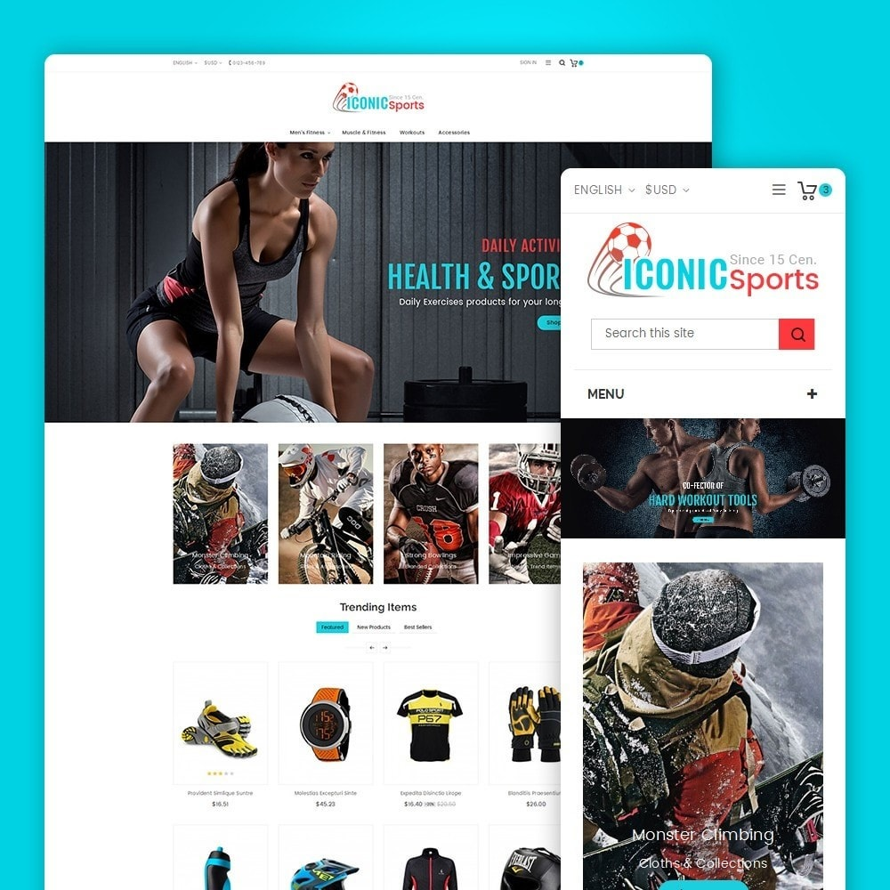 theme - Sport, Aktivitäten & Reise - Iconic Sports Store - 2