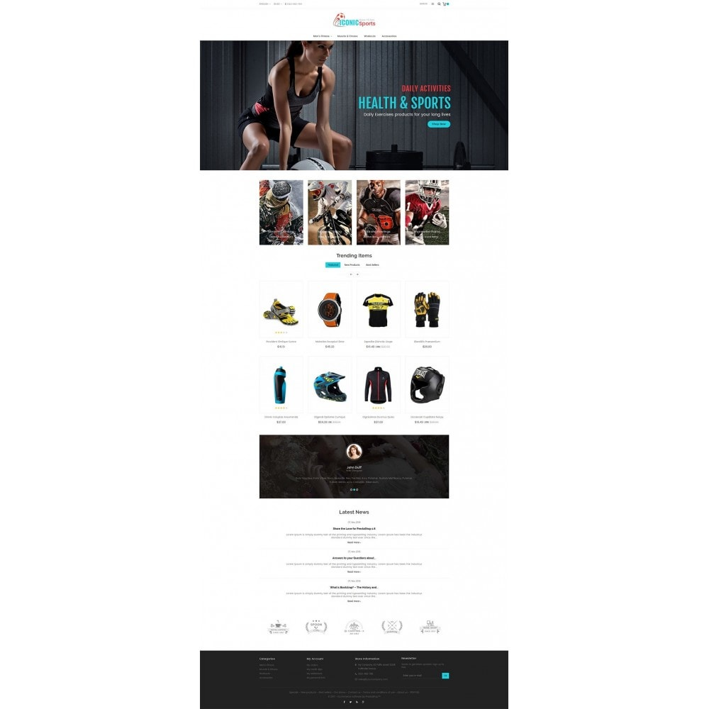 theme - Sport, Aktivitäten & Reise - Iconic Sports Store - 3