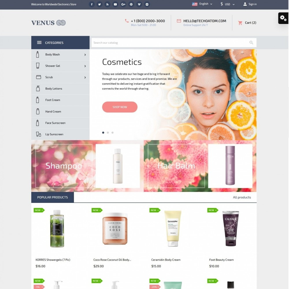 theme - Здоровье и красота - Venus Cosmetics - 2
