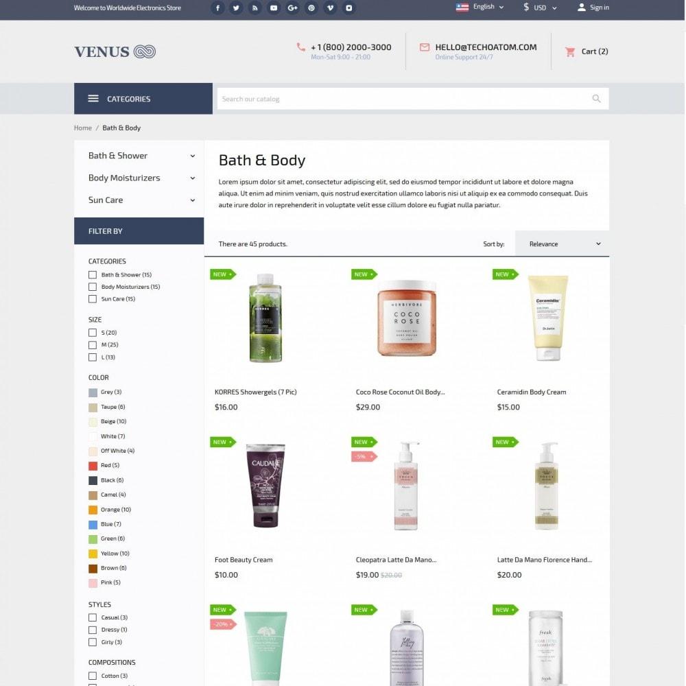 theme - Health & Beauty - Venus Cosmetics - 5