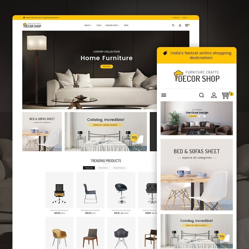 theme - Maison & Jardin - Decor Furniture Shop - 2