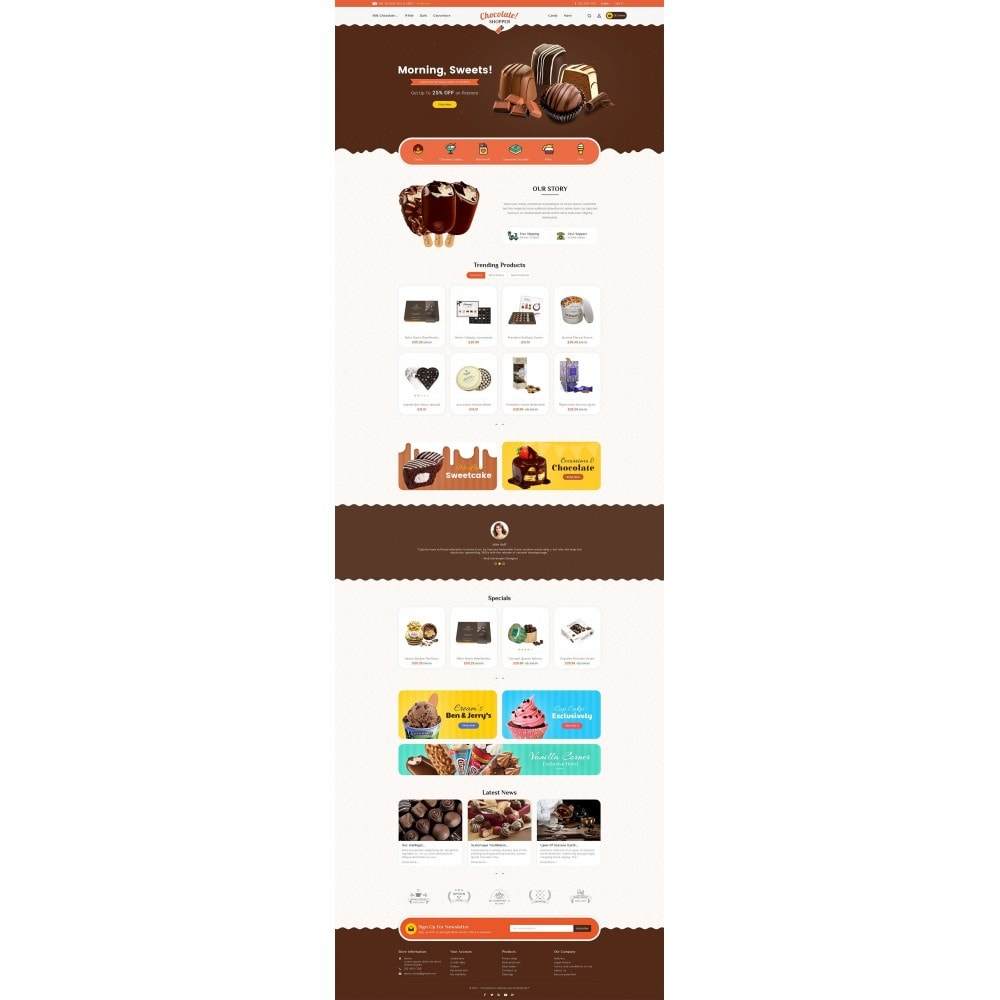 theme - Regalos, Flores y Celebraciones - Chocolate Cream - 3