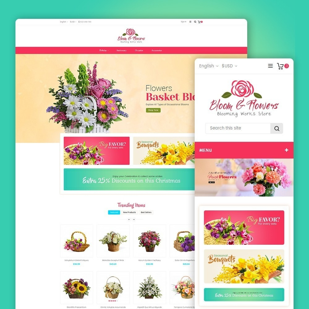 theme - Regalos, Flores y Celebraciones - Bloom Flower Store - 2