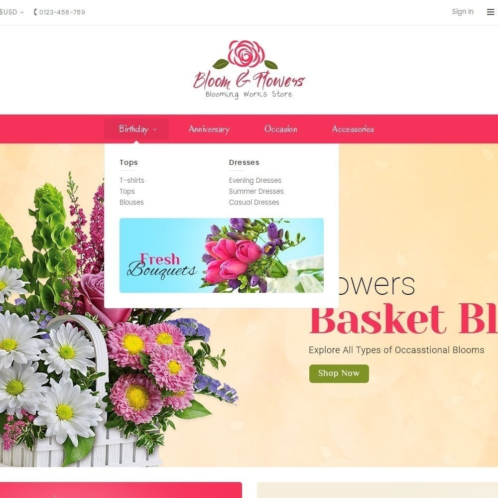 theme - Regali, Fiori & Feste - Bloom Flower Store - 9