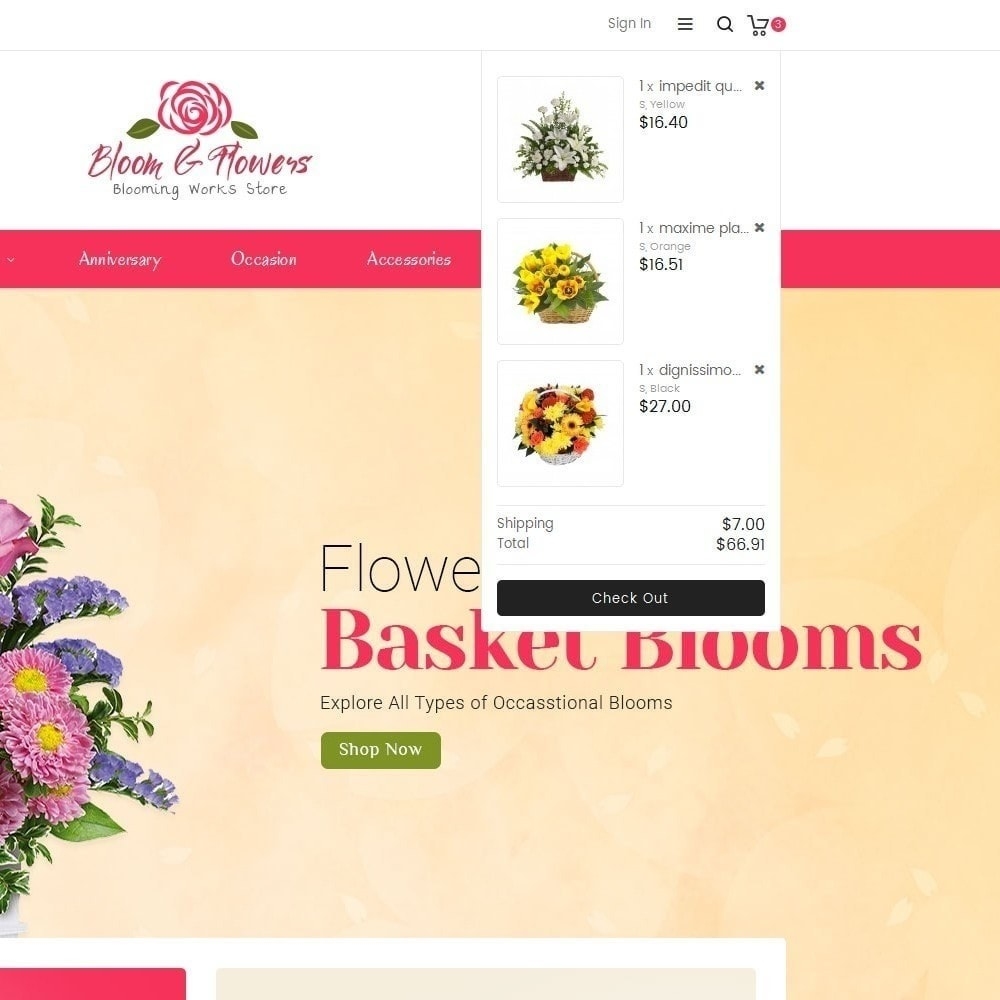 theme - Geschenke, Blumen & Feiern - Bloom Flower Store - 10