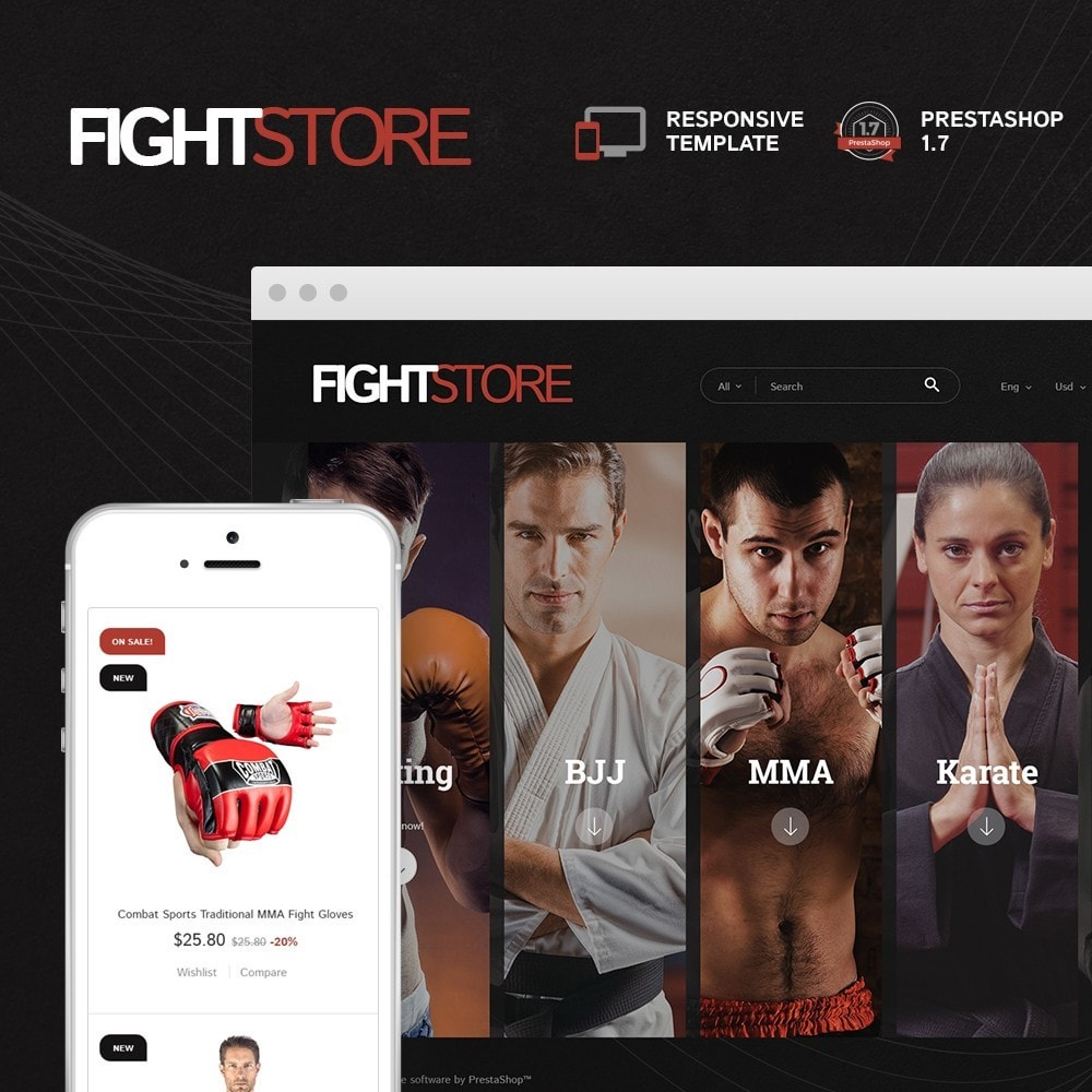 theme - Sport, Attività & Viaggi - Fight Store - sports equipment and apparel for fighting - 1