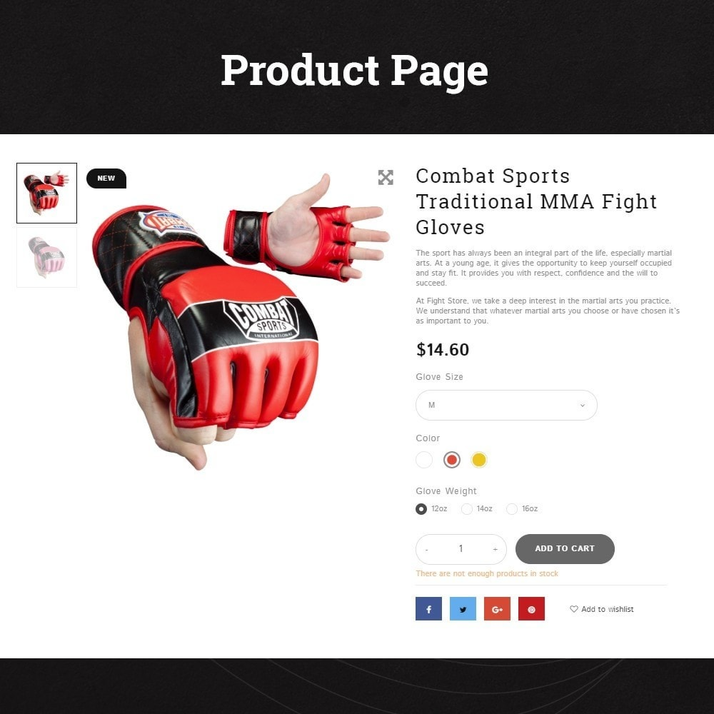 Fight Store - sports equipment and apparel for fighting