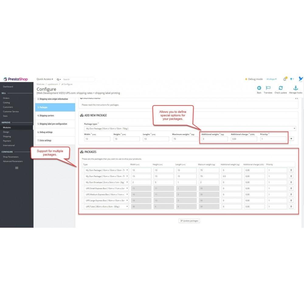 module - Voorbereiding & Verzending - UPS: shipping rates + shipping label printing - 5