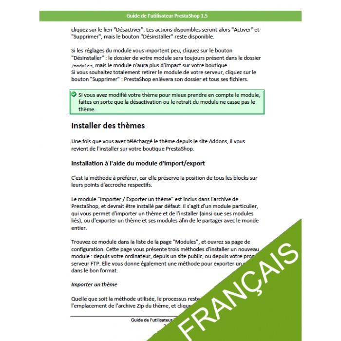 other - Guide utilisateur PrestaShop - Guide utilisateur PrestaShop 1.5 - 2