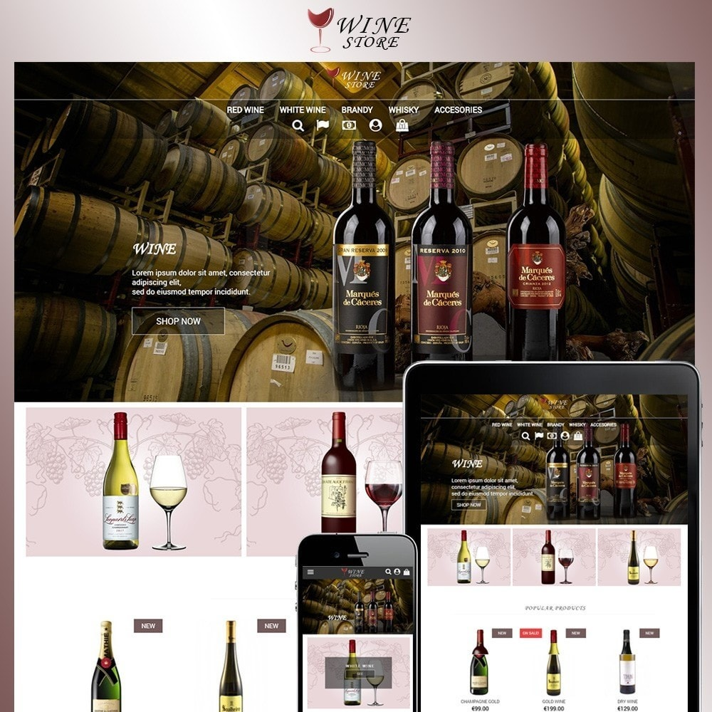 theme - Napoje & Wyroby tytoniowe - Wine Store - 2