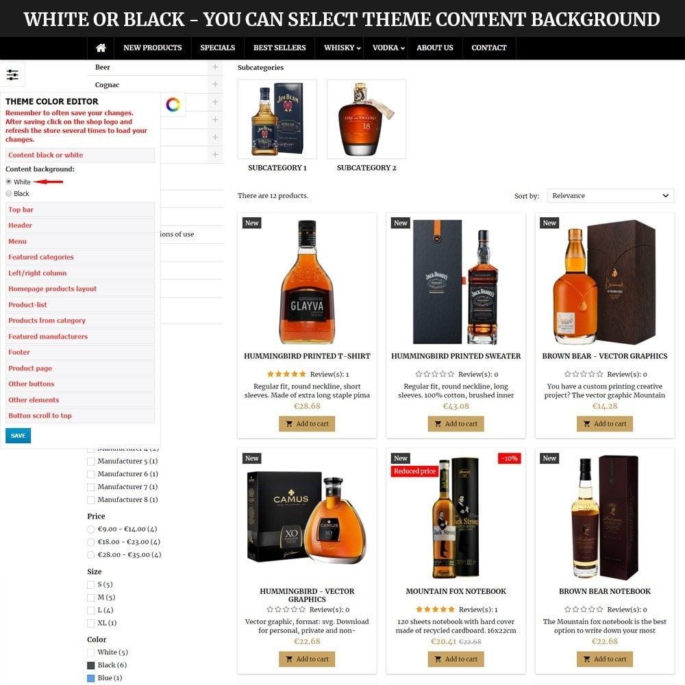 theme - Bebidas & Tabaco - AT18 Black - Drink, alcohol, liquor, whisky, beer store - 10