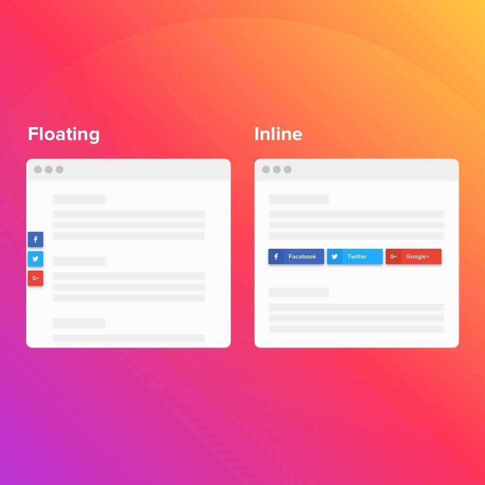module - Boutons de Partage & Commentaires - Elfsight Social Share Buttons - 3