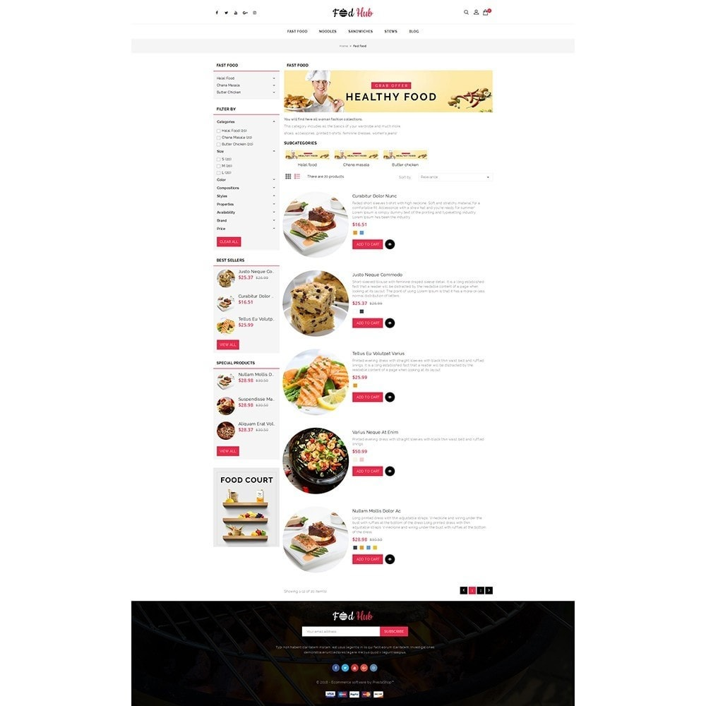 theme - Lebensmittel & Restaurants - FoodHub Demo Store - 4