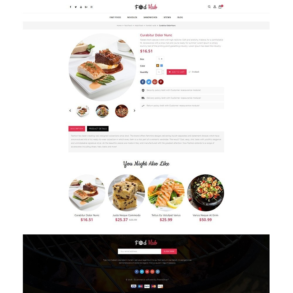 theme - Lebensmittel & Restaurants - FoodHub Demo Store - 5