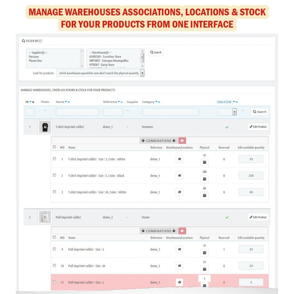 module - Gestione Scorte & Fornitori - Wk Warehouses Management For Prestashop 1.7 - 7