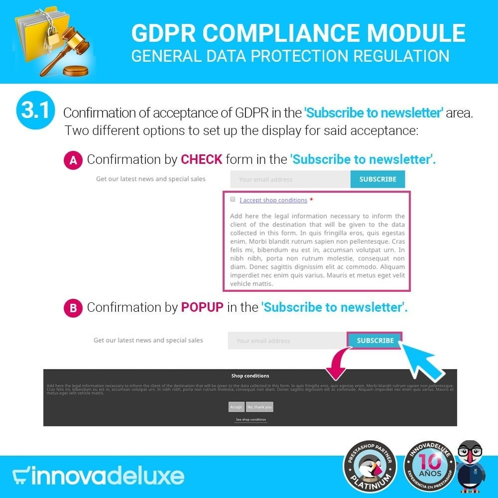 module - Legal - Data privacy extended (data protection law) - GDPR - 4