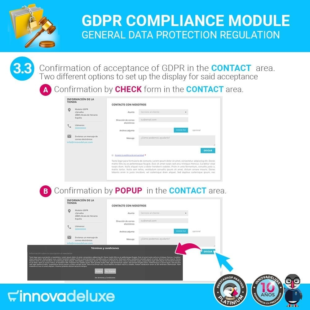 module - Legal - Data privacy extended (data protection law) - GDPR - 6